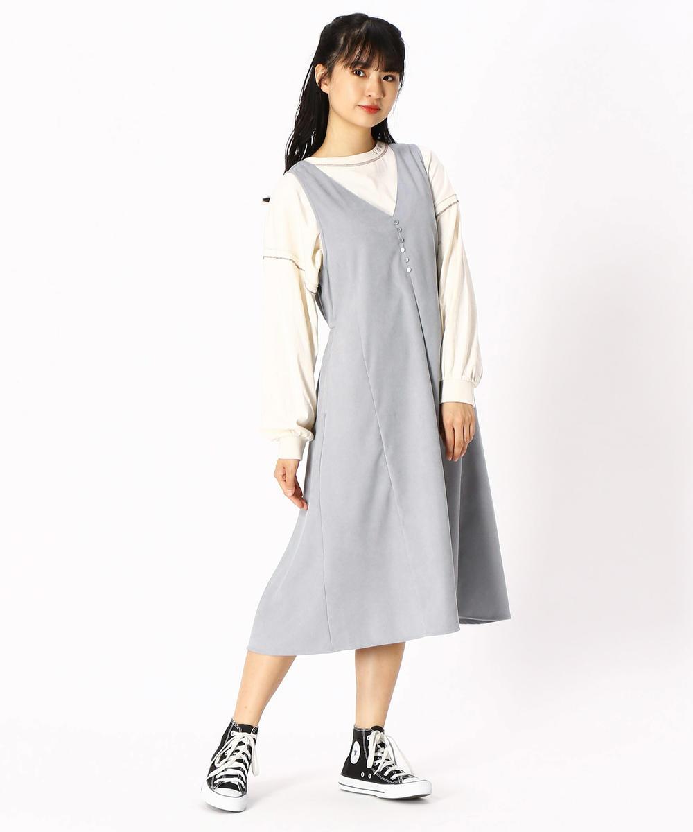 【再値下げ】バックレースアップジャンパースカート