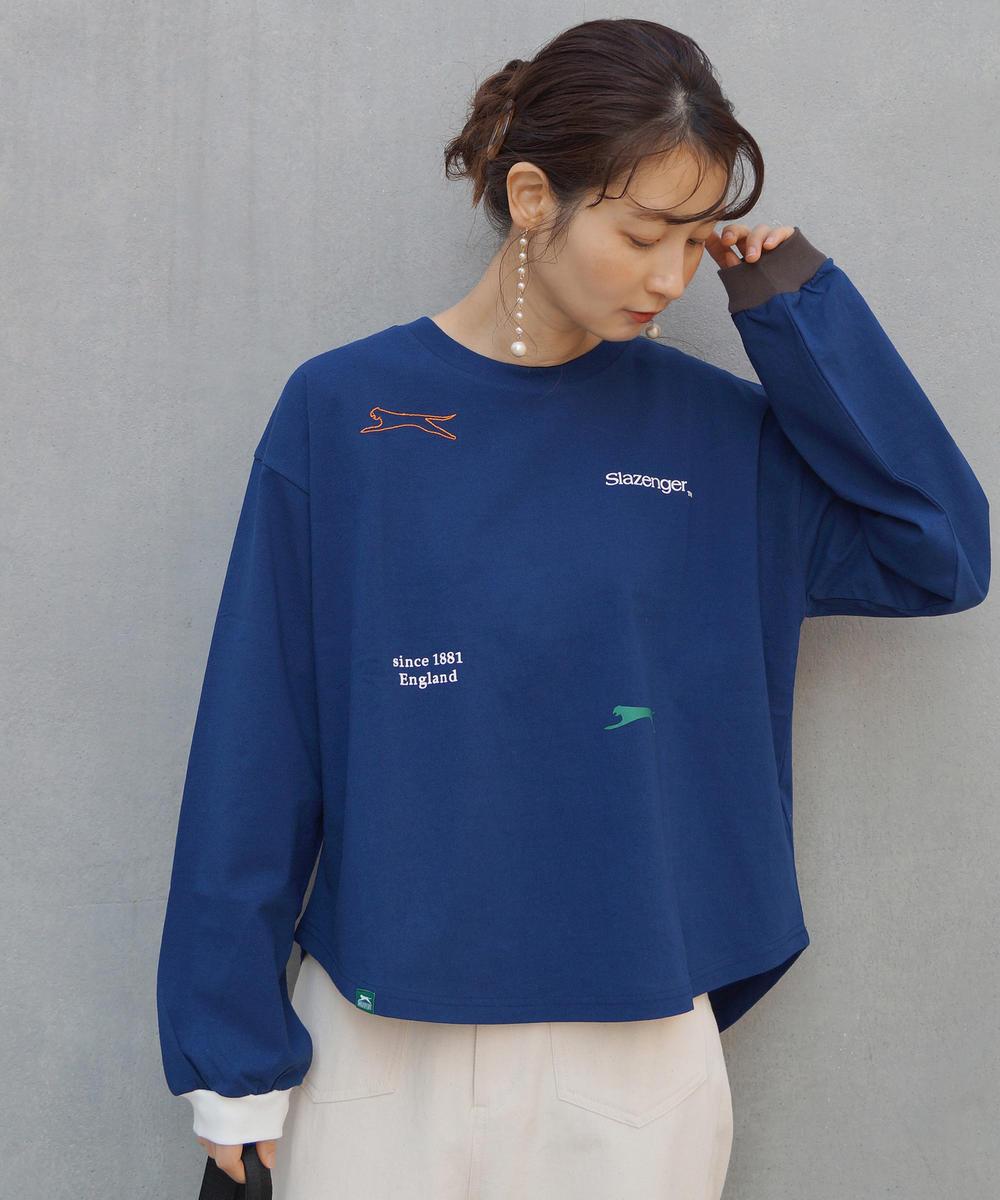 【再値下げ】Slazengerマルチプリント&刺繍カットソー