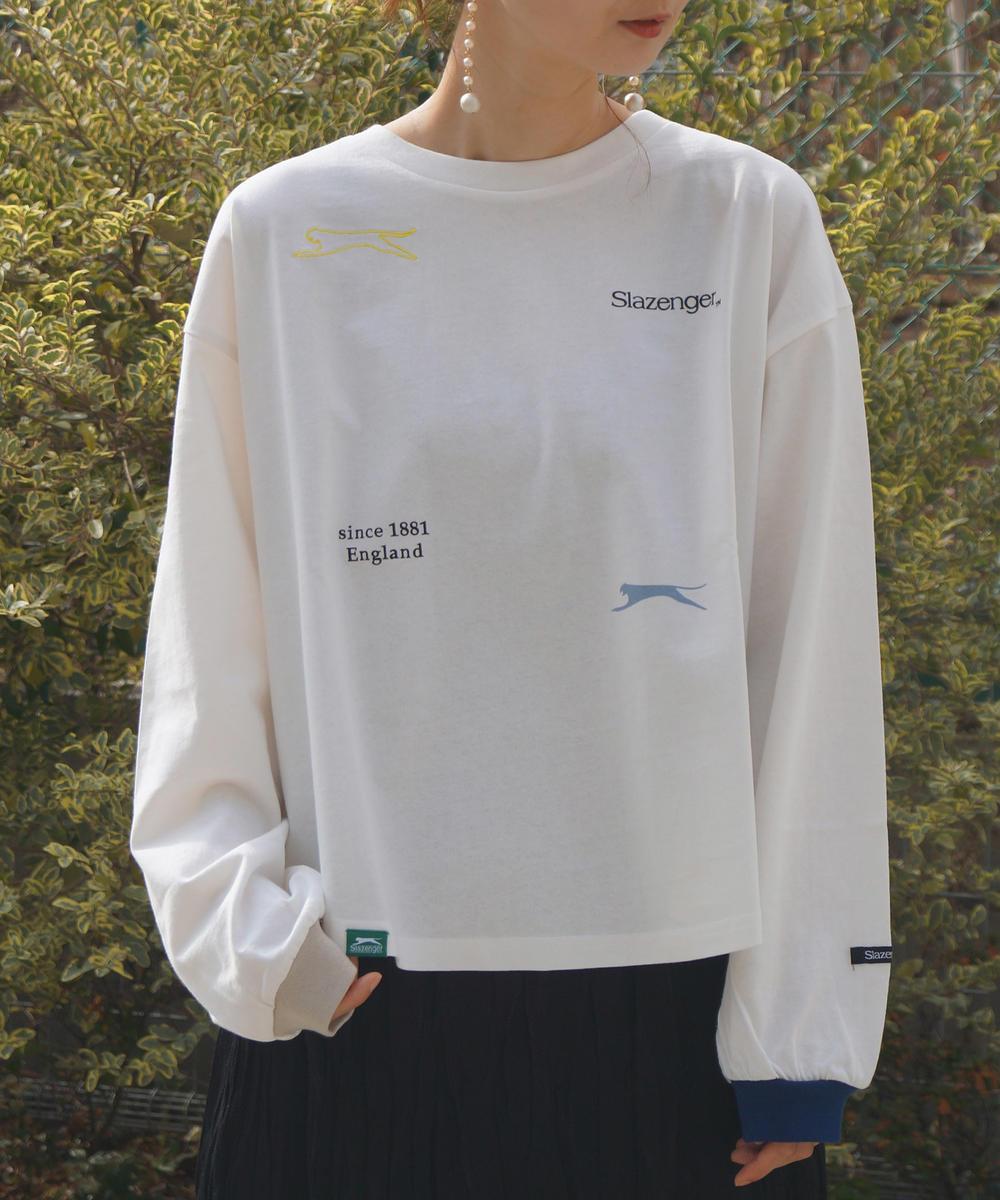 【TIME SALE】【再値下げ】Slazengerマルチプリント&刺繍カットソー