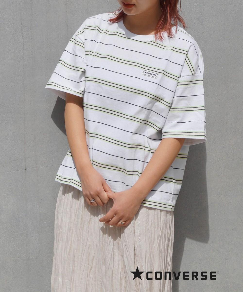 CONVERSEマルチボーダーTシャツ