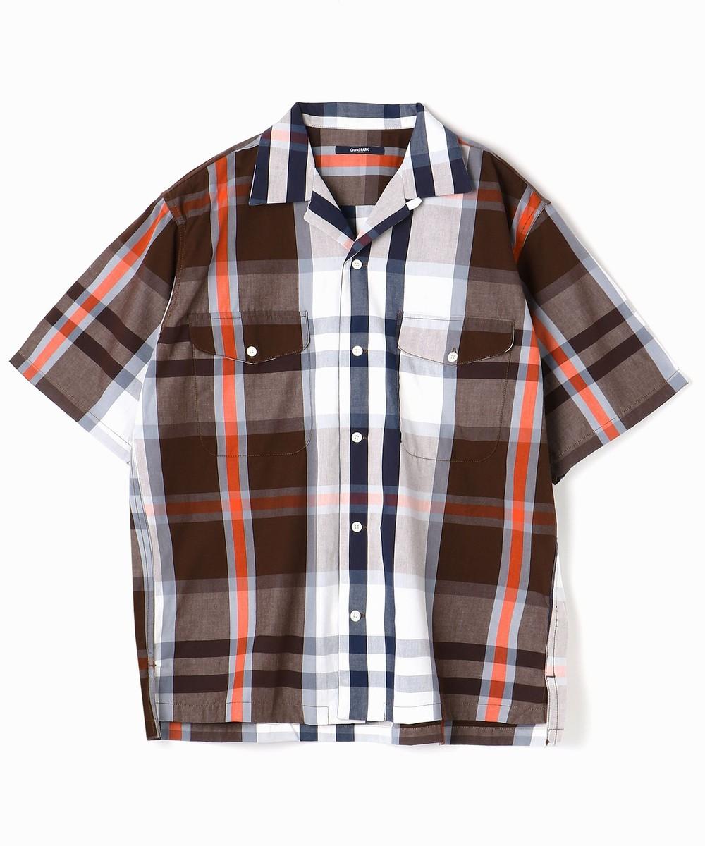 マドラスチェック半袖シャツ