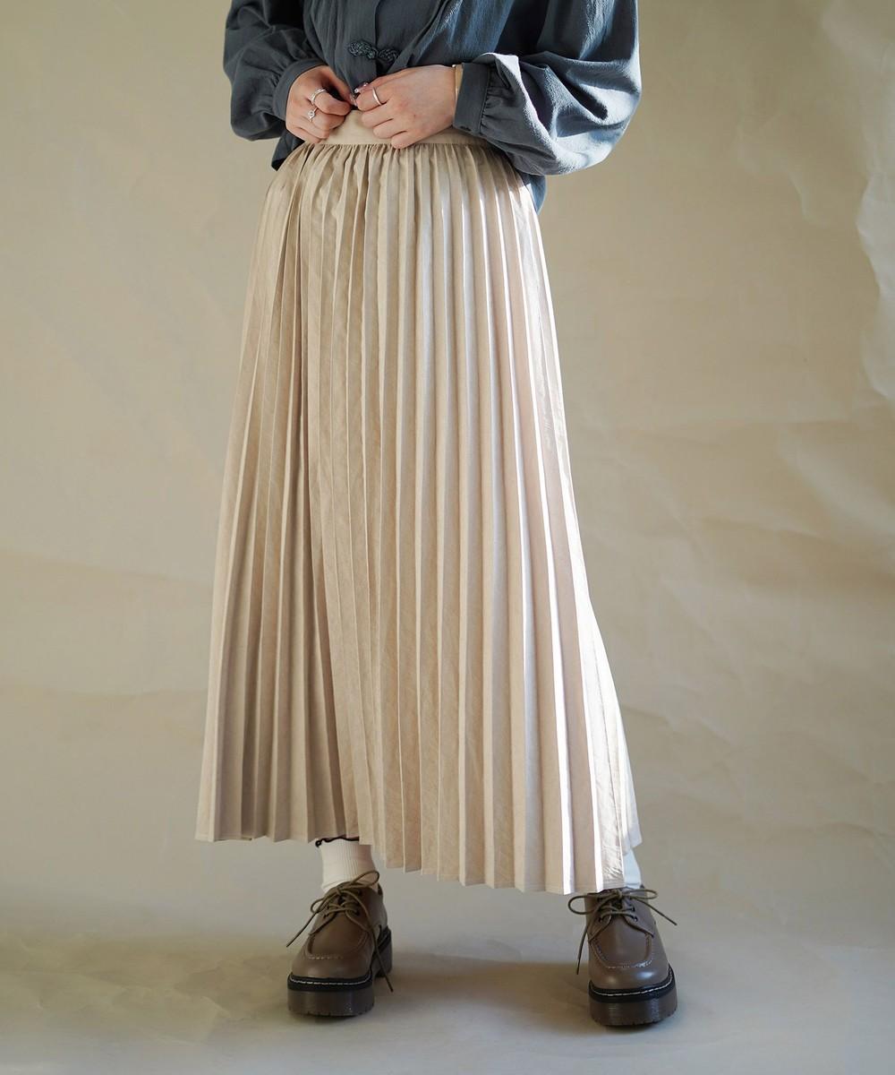 ピーチ起毛プリーツスカート