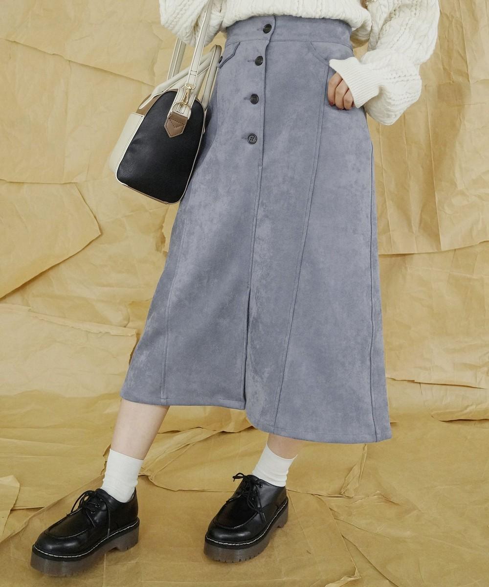 【TIME SALE】フェイクスエードタイトスカート