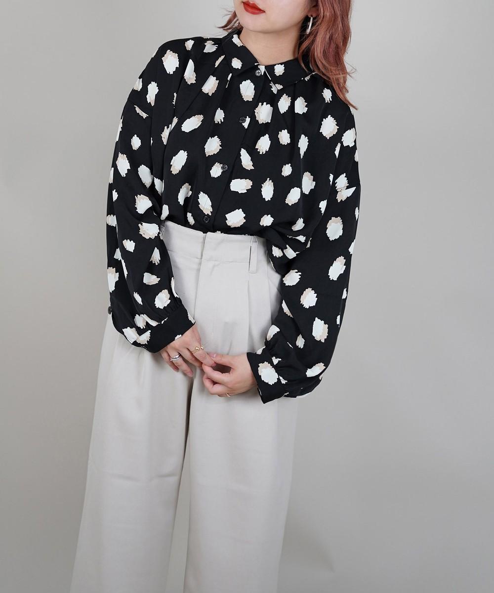 プリントオーバーシャツ
