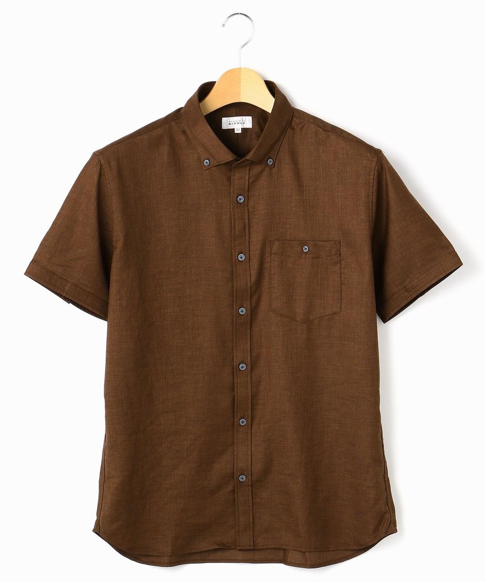 <大きいサイズ>OXIJEWELヴィンテージツイルボタンダウン半袖シャツ