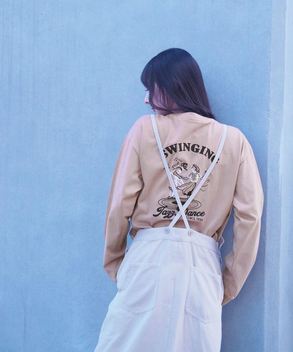 バック刺繍ロングスリーブTシャツ