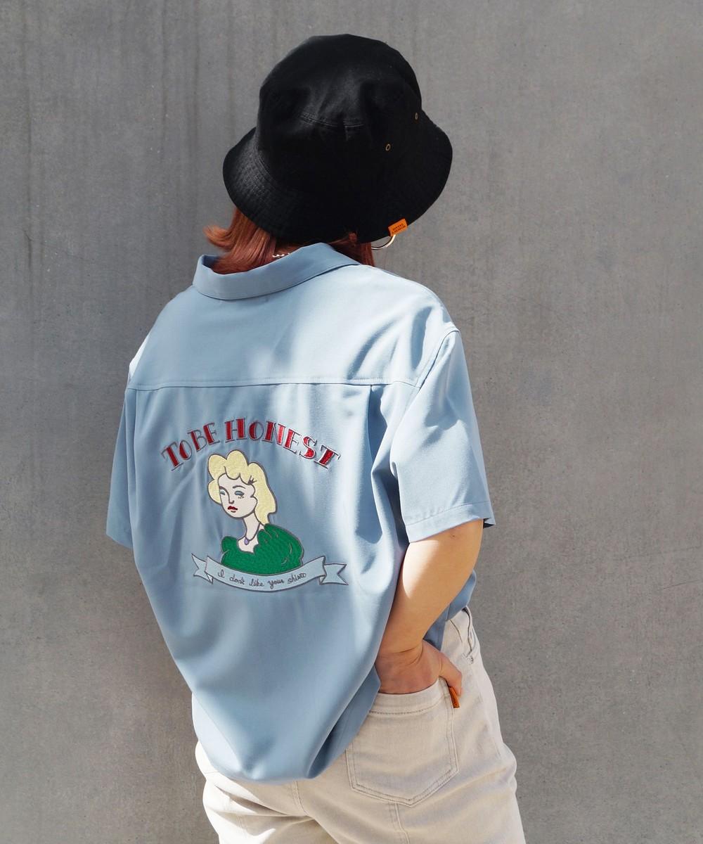 【再値下げ】後ろ刺繍ボーリングシャツ