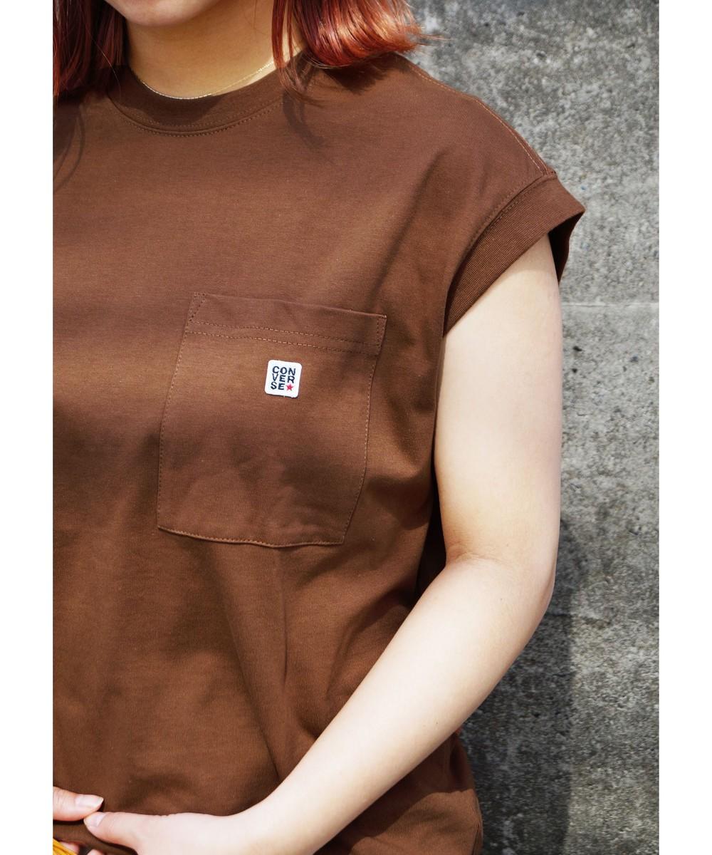 CONVERSEフレンチスリーブTシャツ