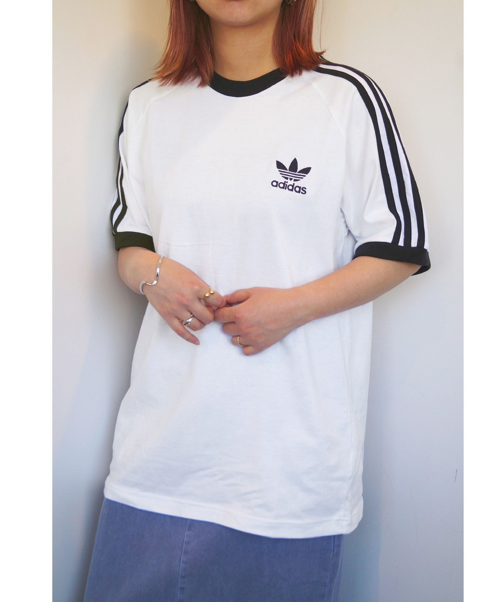 adidas 3STRIPESラグランビッグTシャツ
