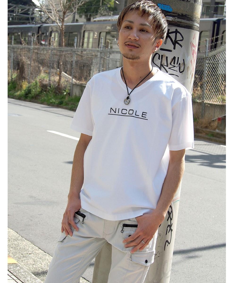 ダブルシルケットロゴプリントTシャツ
