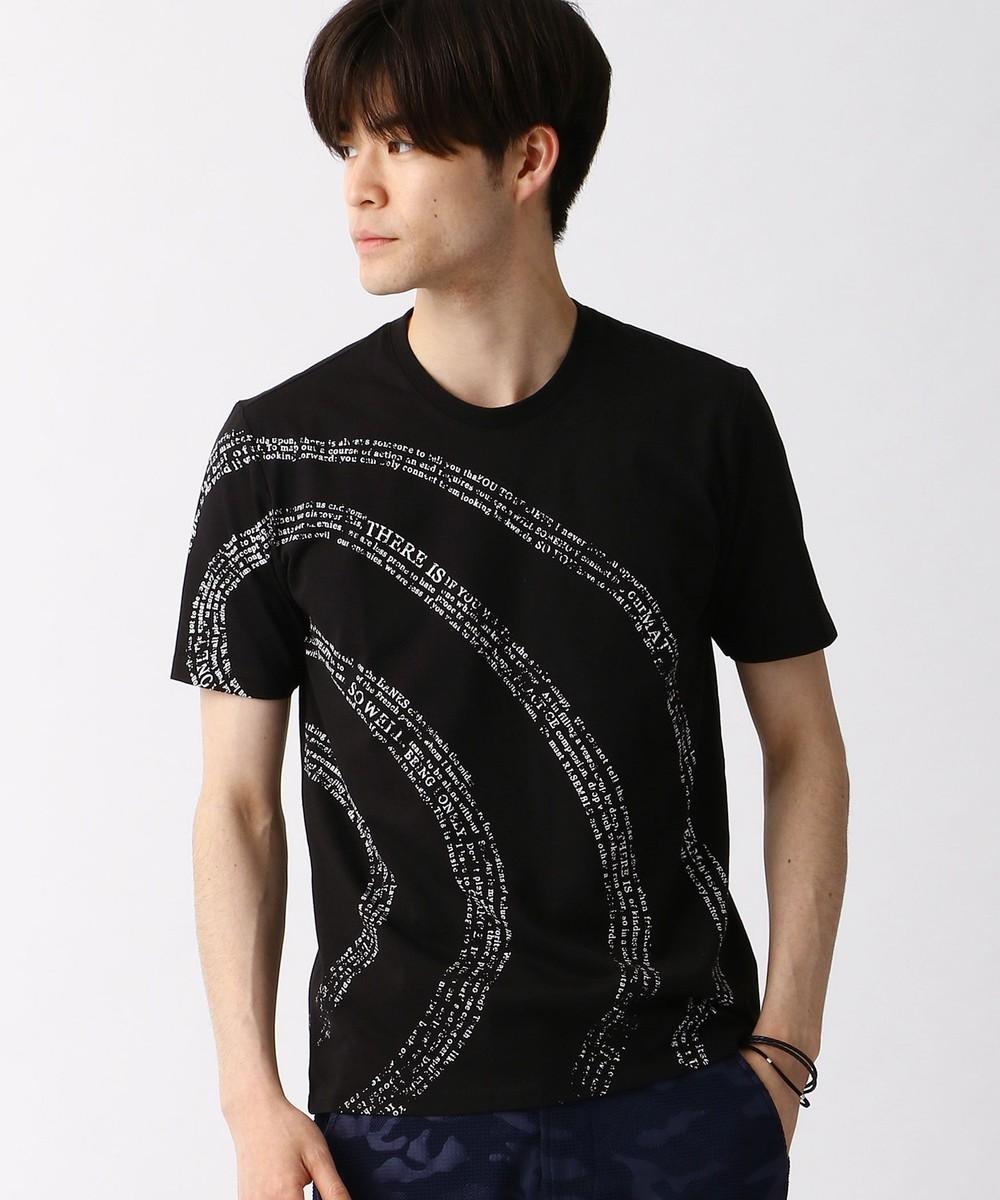 渦巻ロゴプリントTシャツ