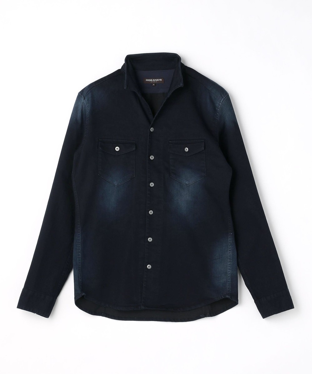 ソフトシャンブレーツイルストレッチシャツ