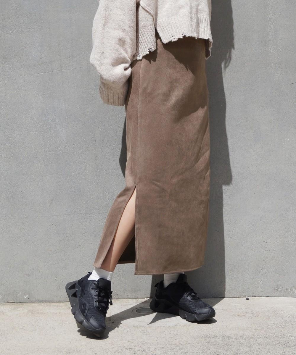 カットスウェードスカート