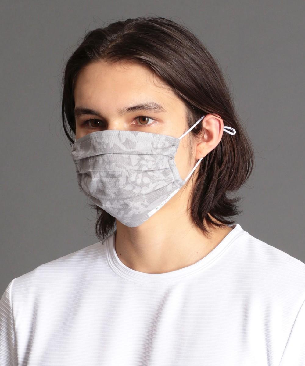 ケース付洗えるボタニカル柄マスク