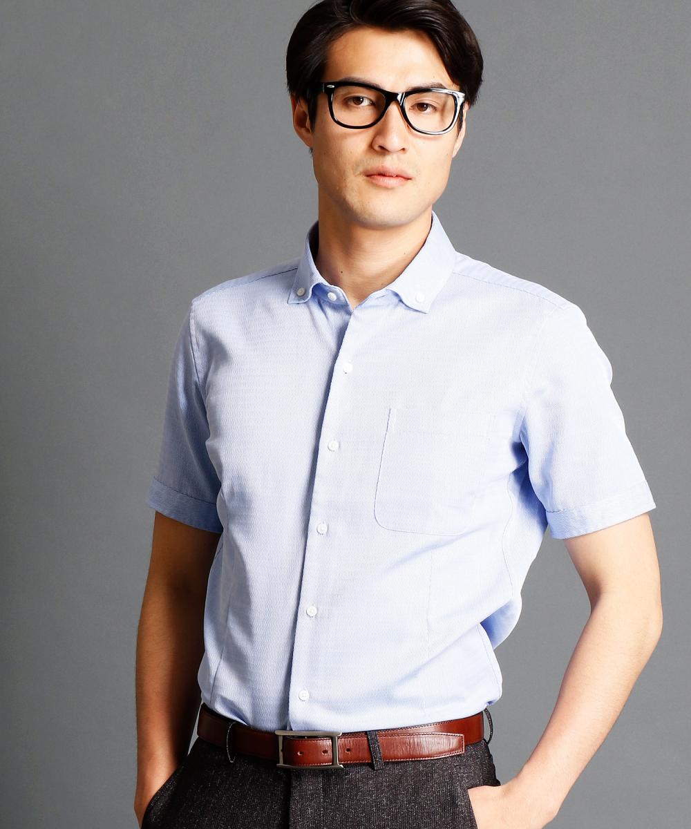 【再値下げ】波紋ストライプ柄ボタンダウンシャツ