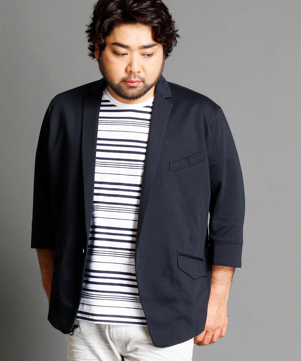 【再値下げ】<大きいサイズ>7分袖テーラードジャケット
