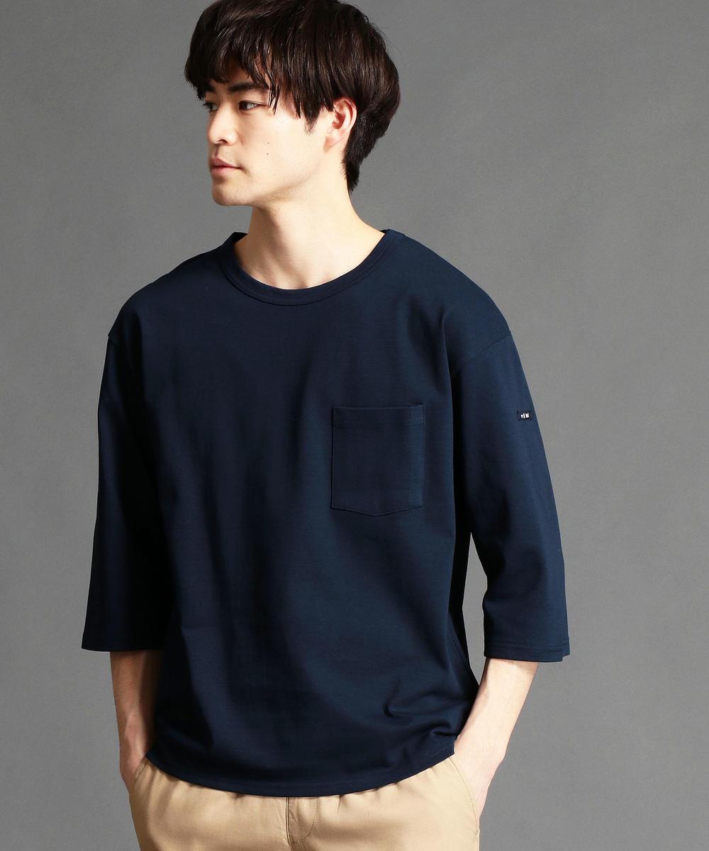 胸ポケット6分袖Tシャツ