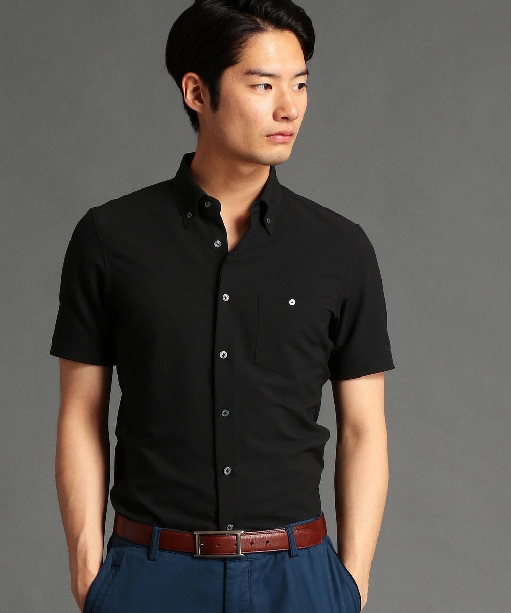 【TIME SALE】【再値下げ】シアサッカー素材ボタンダウンシャツ