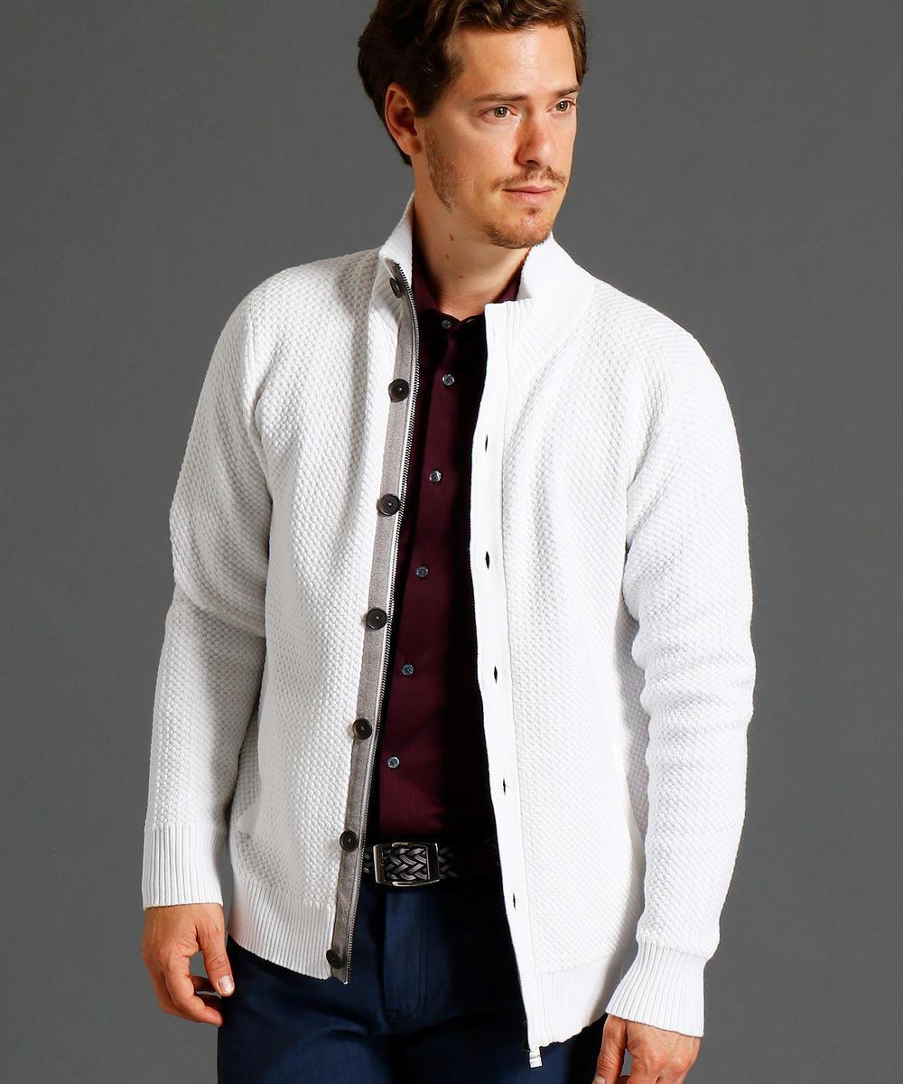 【TIME SALE】スタンドカラーニットジャケット