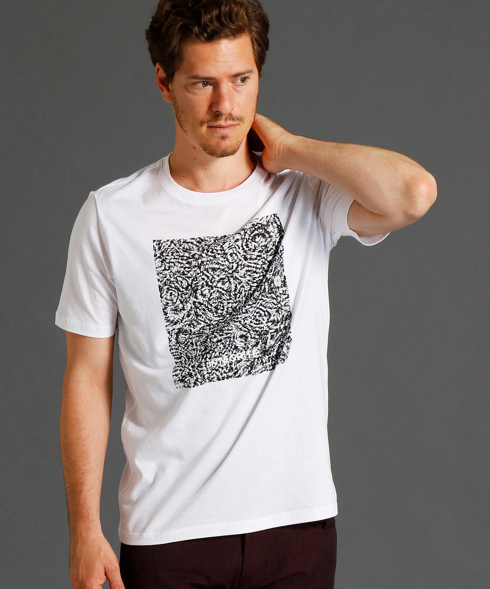 【TIME SALE】グラフィックプリント半袖クルーネックTシャツ