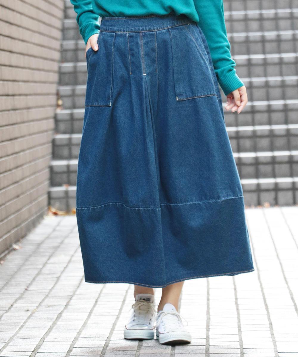 バルーンデニムスカート