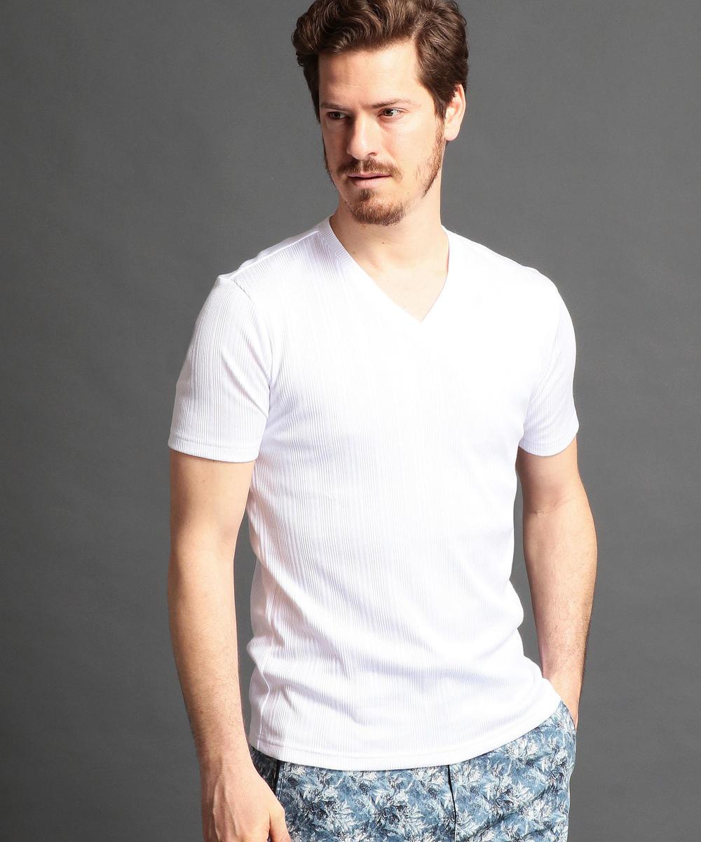 半袖VネックTシャツ