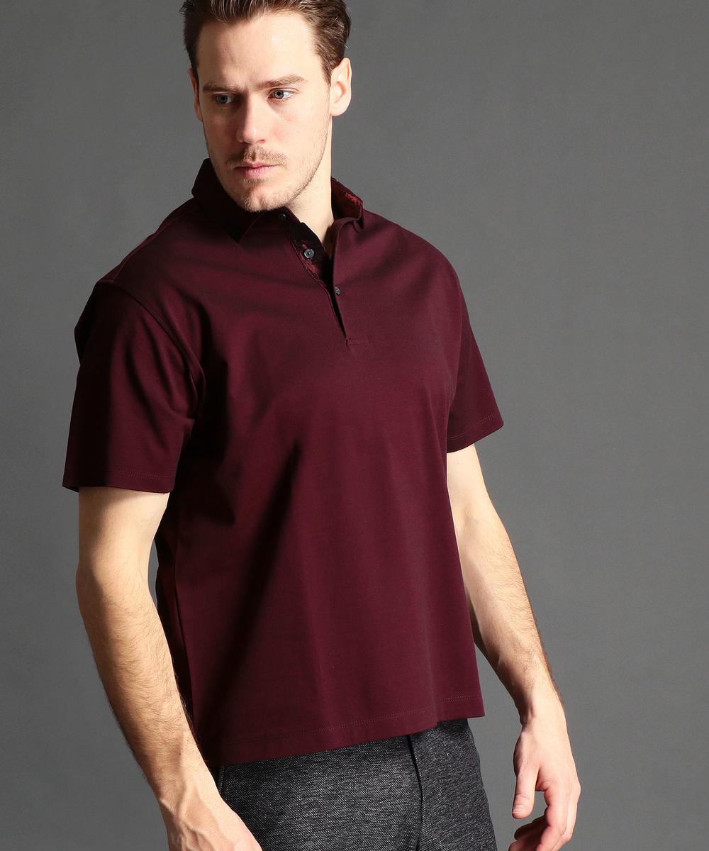 【TIME SALE】【再値下げ<大きいサイズ>襟切り替えポロシャツ