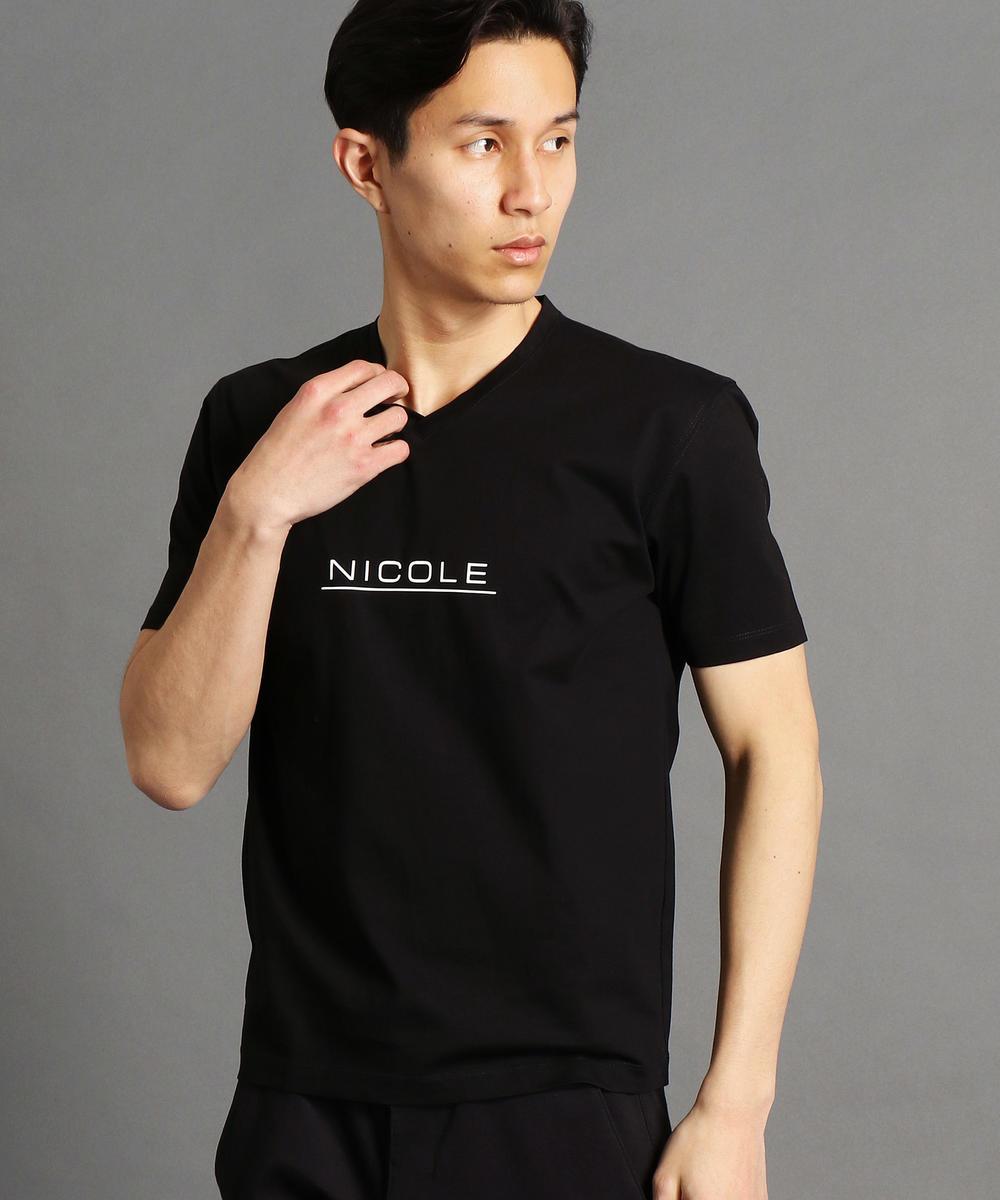 シルケット加工ロゴプリントTシャツ