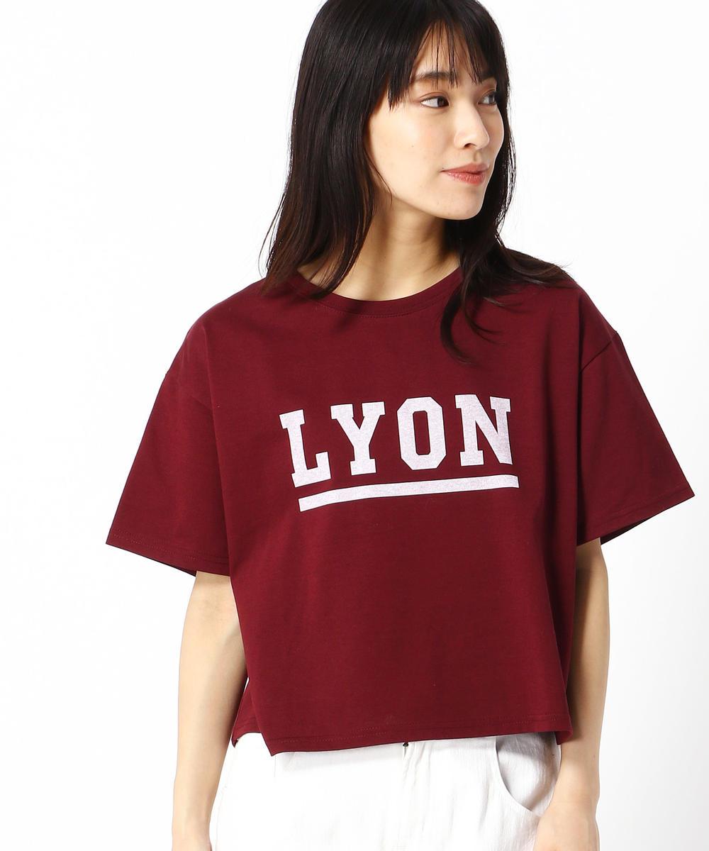ショート丈ロゴプリントTシャツ