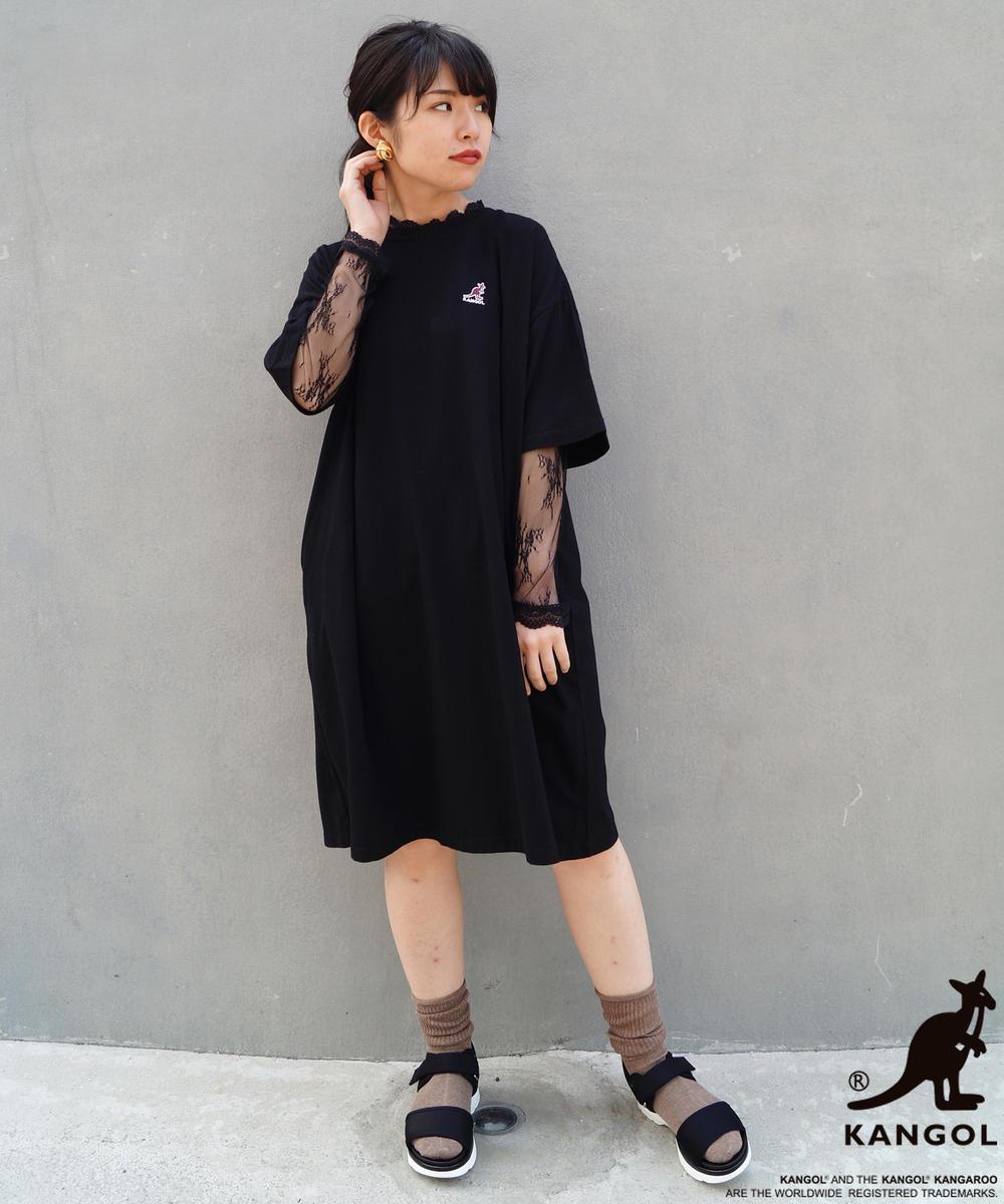 【WEB別注】KANGOL刺繍Tシャツワンピース