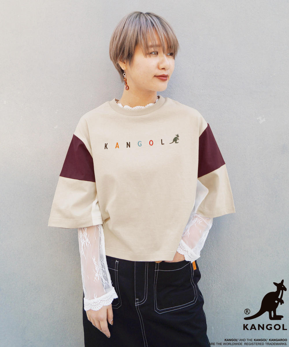 【WEB別注】KANGOLコラボブロッキングTシャツ