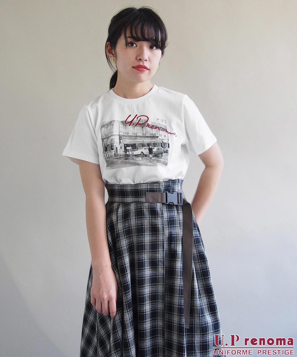 U.P renomaコラボフォトプリントTシャツ