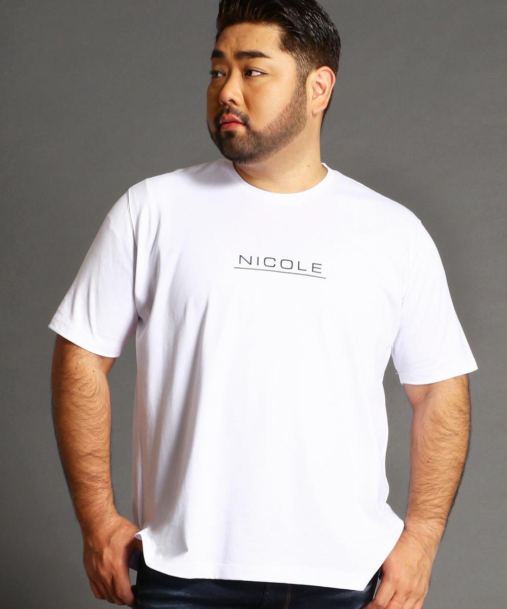 <大きいサイズ>ブランドロゴプリントTシャツ