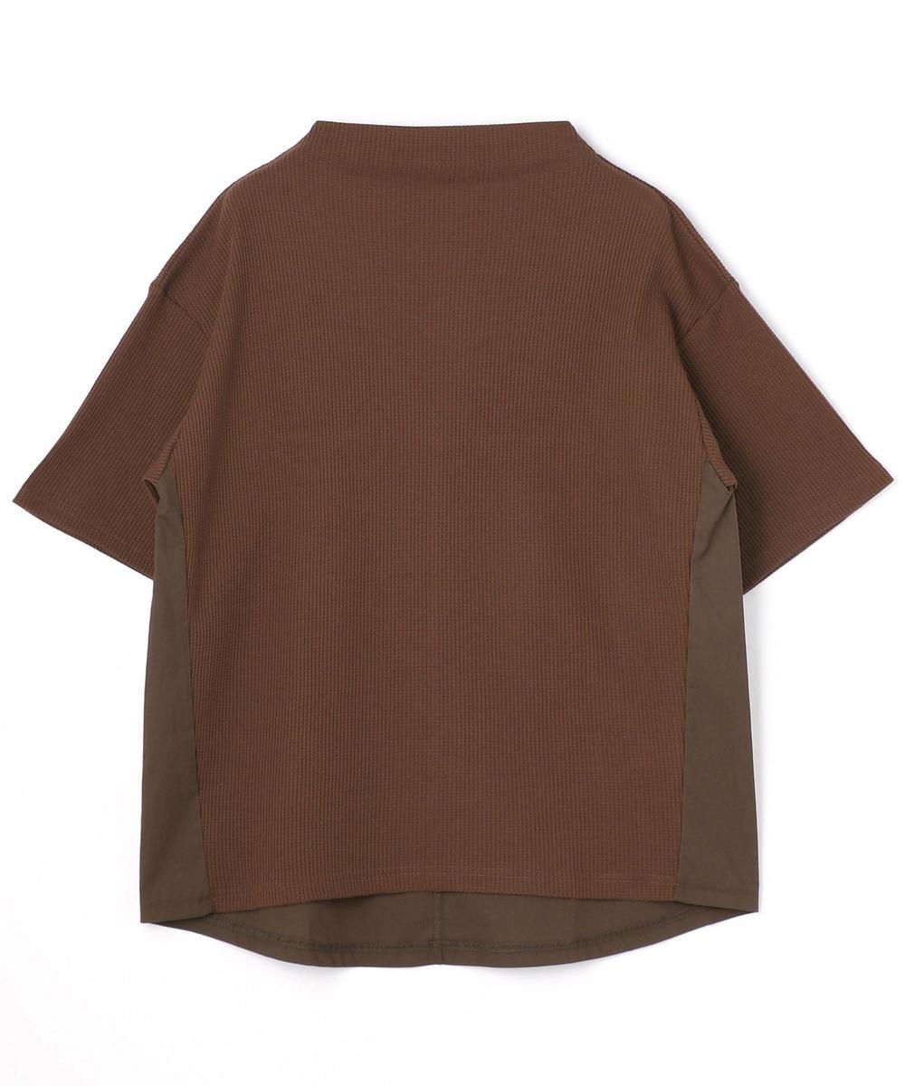 切り替えモックネックTシャツ
