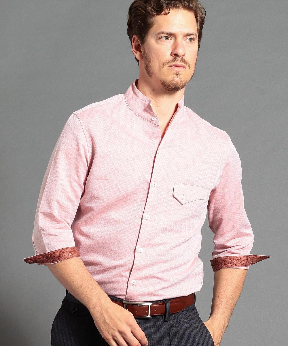 コットン×リネンドビー7分袖シャツ