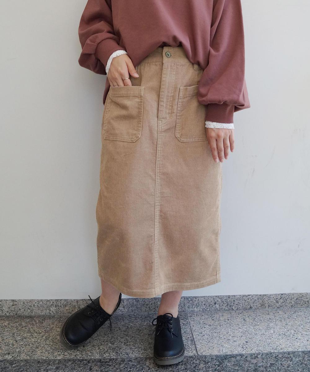 【新色追加】コーデュロイタイトスカート