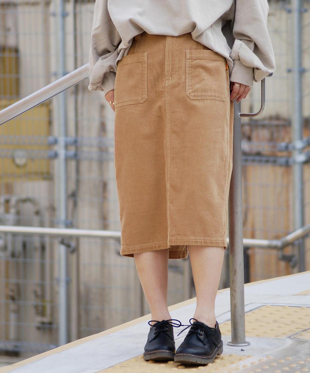 『mini10月号雑誌掲載』コーデュロイタイトスカート