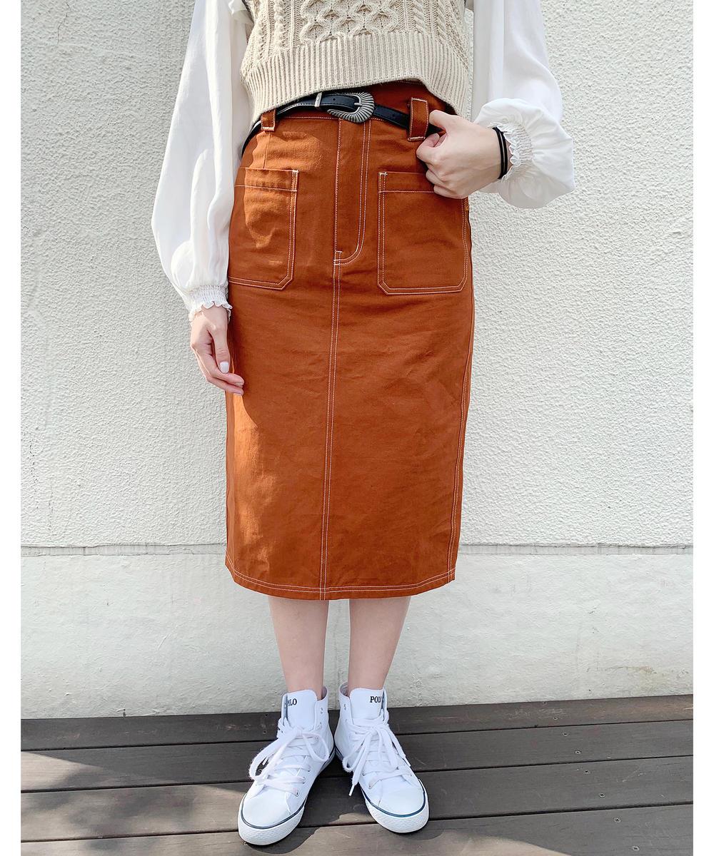 ミディ丈タイトスカート