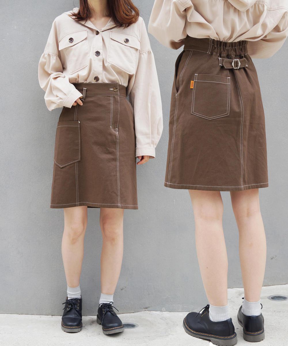 アシンメトリーボックススカート