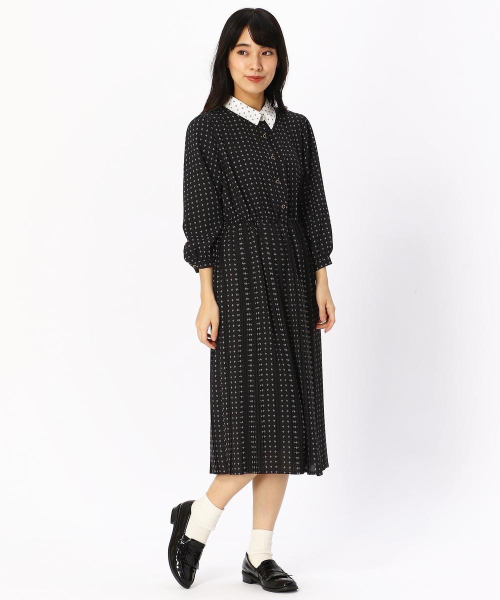 『mini10月号雑誌掲載』総柄プリント七分袖ワンピース