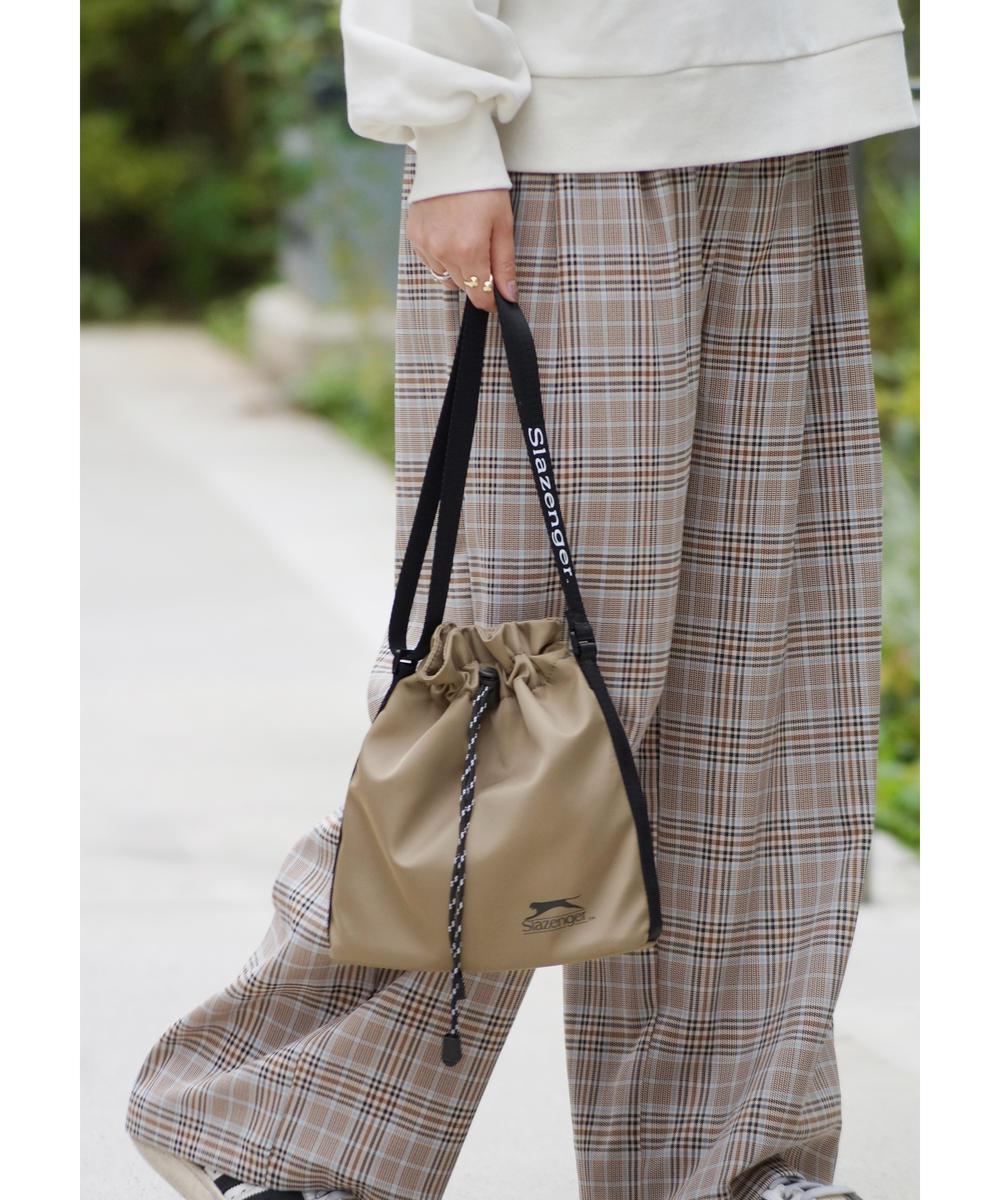 『mini10月号雑誌掲載』Slazenger(スラセンジャー)巾着式ショルダーバッグ