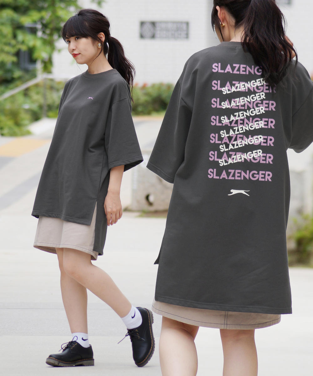 Slazenger(スラセンジャー)バックロゴワイドシルエットTシャツ