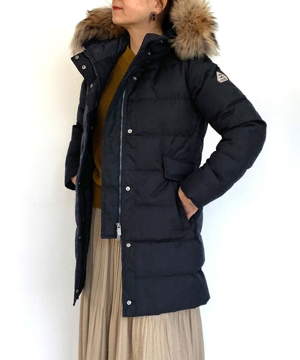 <PYRENEX>Grenoble Jacketファー付きダウンジャケット