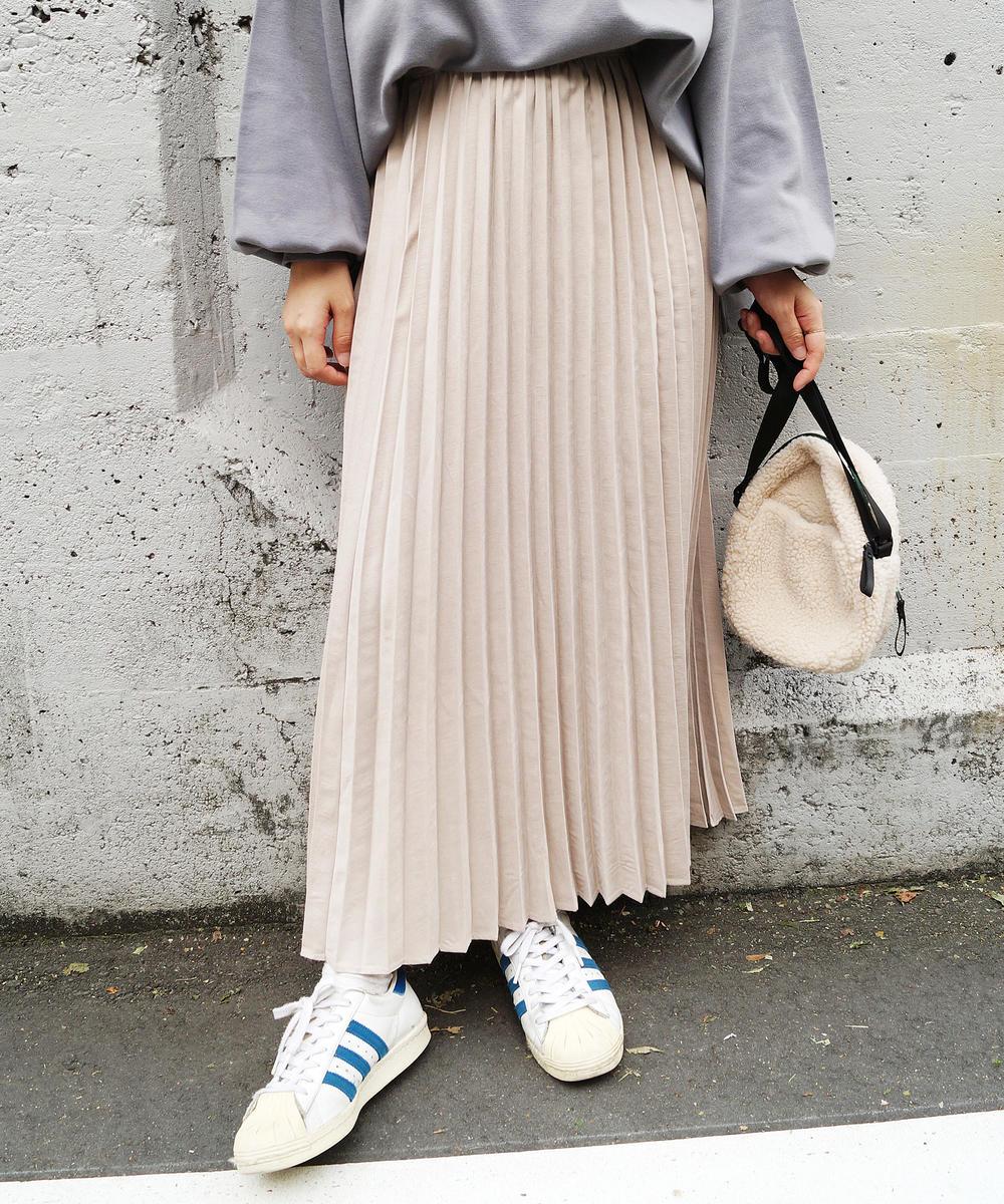 『seventeen12月号掲載』ロングプリーツスカート