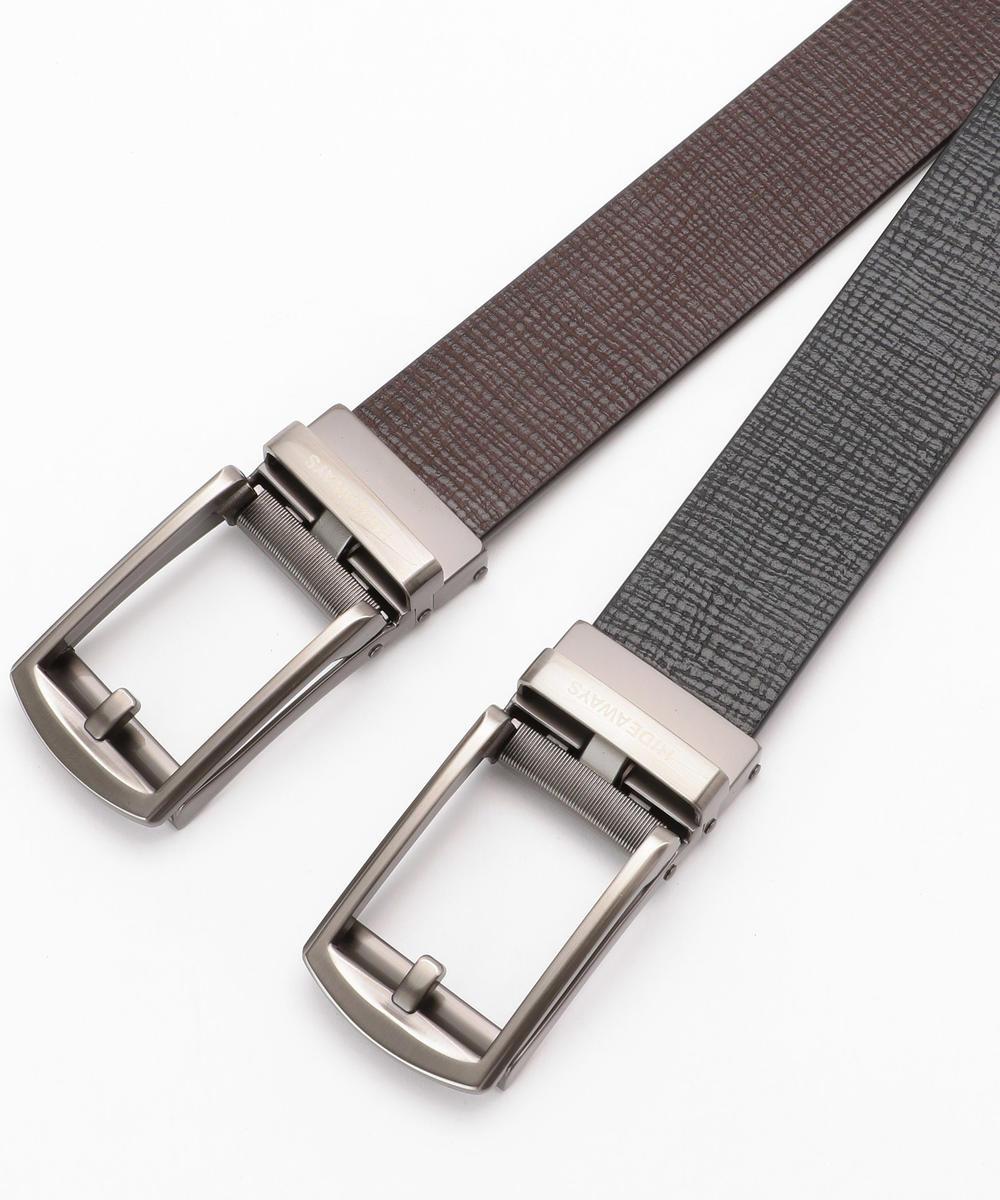 牛床革製スライドベルト