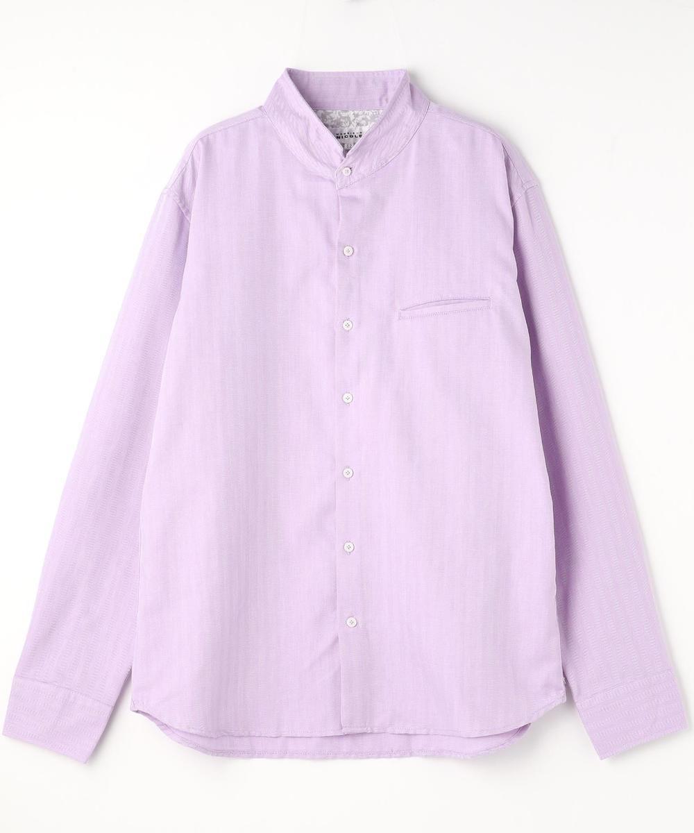 <大きいサイズ>スタンドカラーシャツ