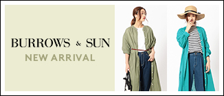 レディースブランド【BURROWS & SUN】カラーバリエーションが豊富な新作ワンピースが登場!