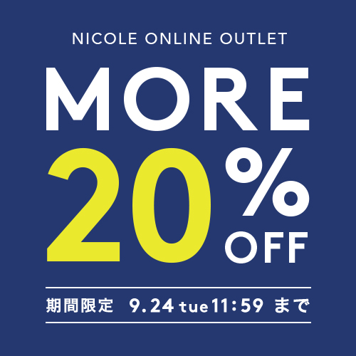 OUTLET_MORE 20%OFF TIME SALE