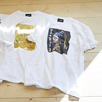 トレンドの絵画モチ-フをイラストで表現したパロディーTシャツの登場です!